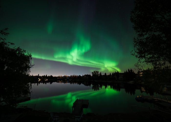 Northern Lights by Tundra Buggy in Canada