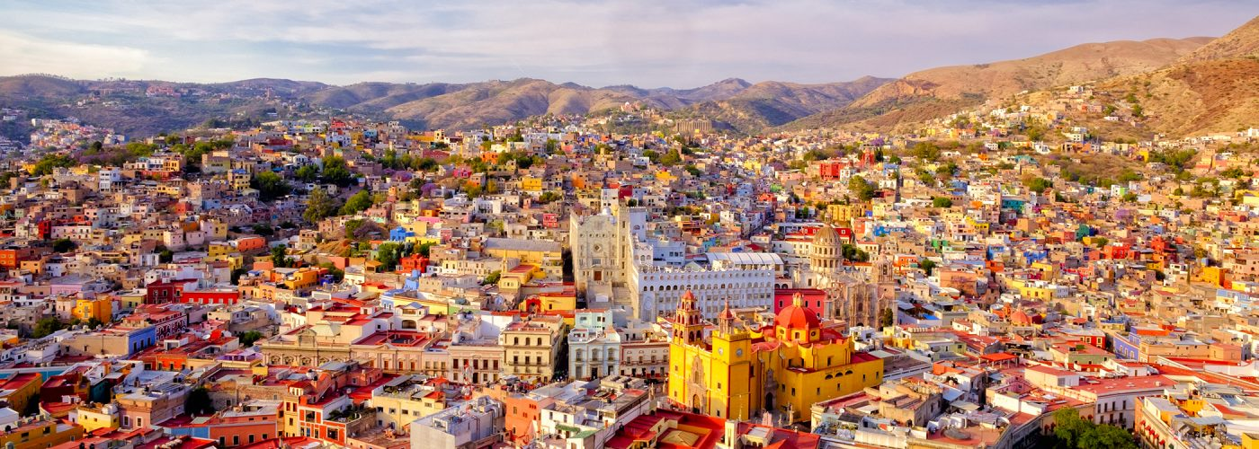 colorful city in mexico.