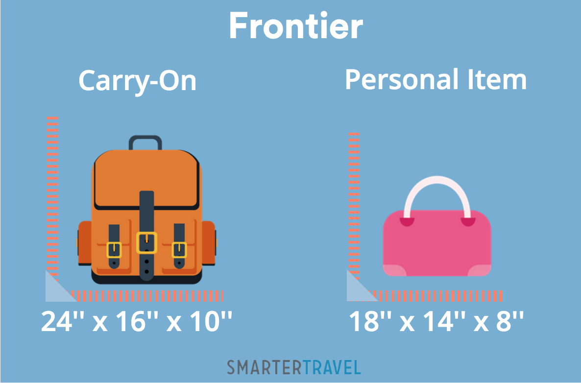 On Frontier The Maximum Dimensions For Personal Items Are 18x14x8 Inches Must Fit Under Seat In Front Of You Diaper Bags Canes Coats