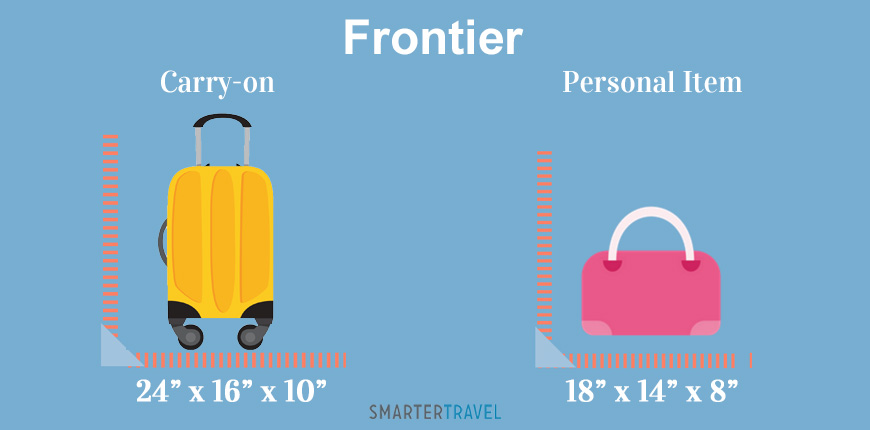 graphic showing carry-on and personal item luggage
