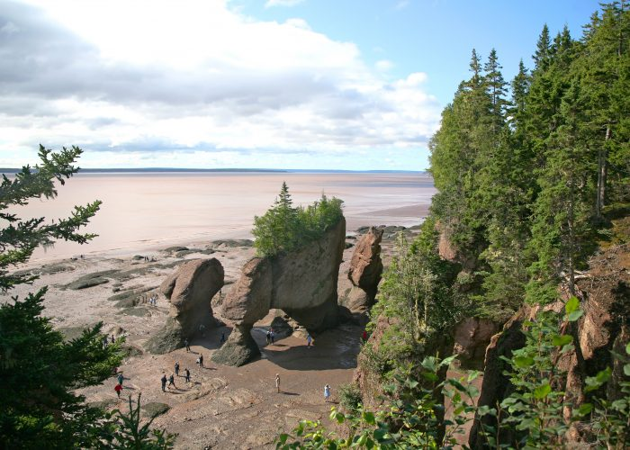 Bay of Fundy in New Brunswick, Canada
