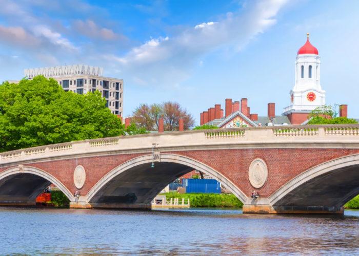 Bridge over the Charles River near Harvard campus