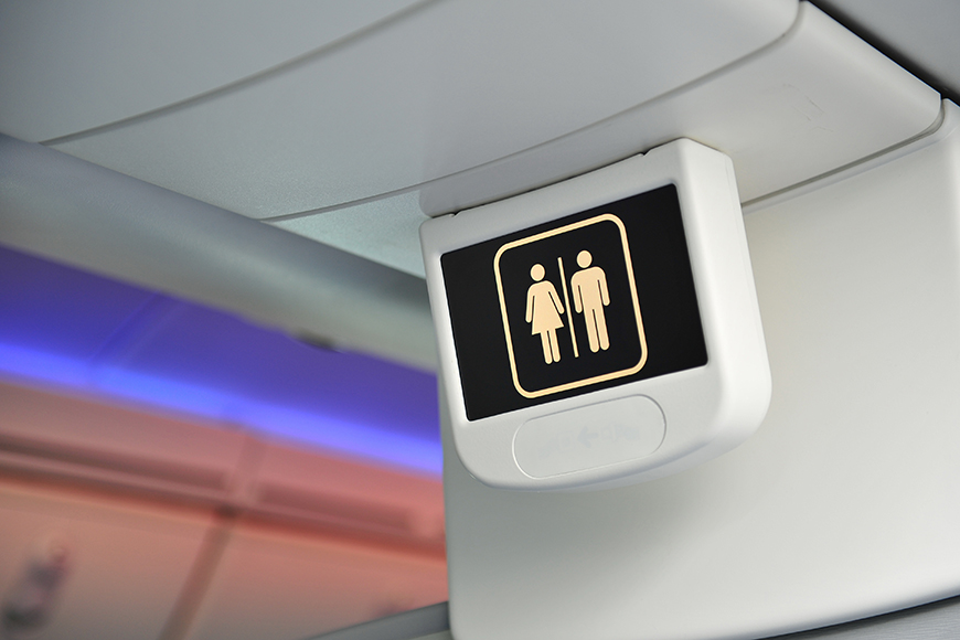 airplane bathroom sign.