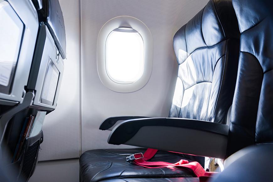 empty airplane seats.