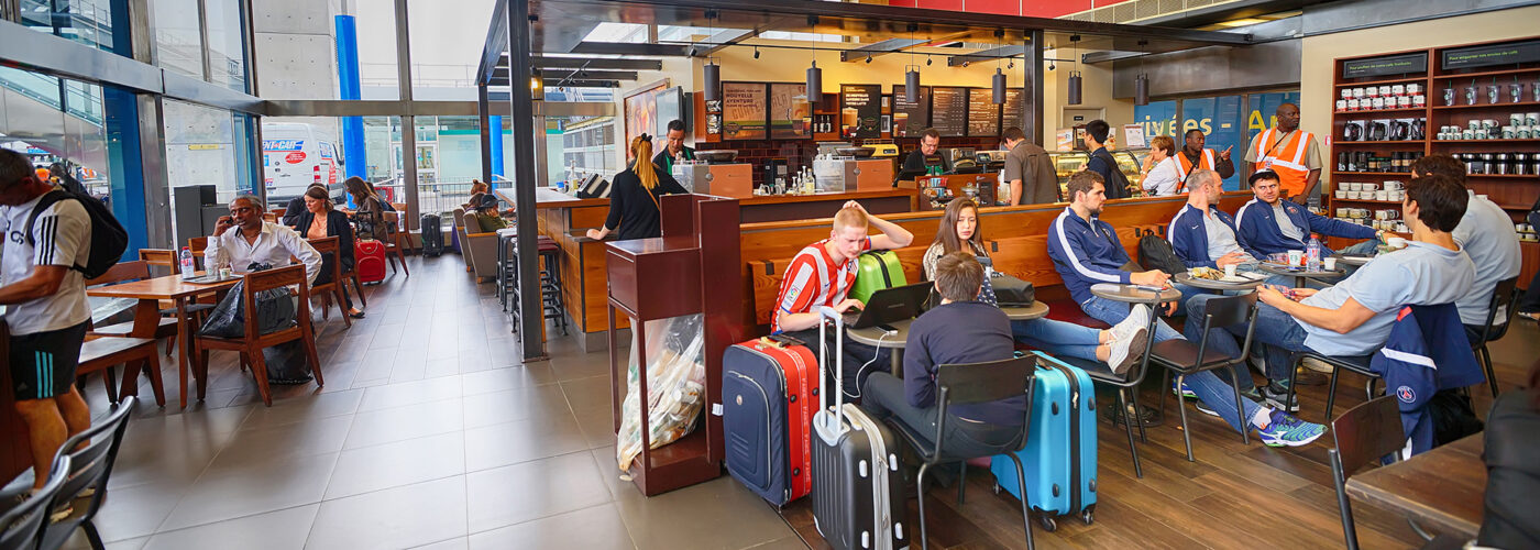 airport restaurant.
