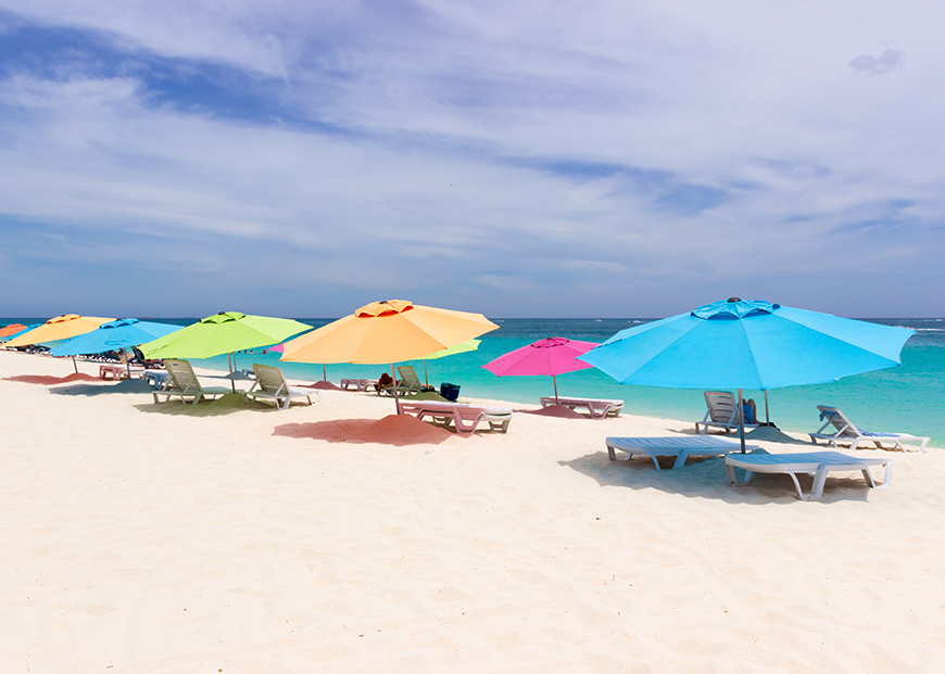 aruba beach umbrellas