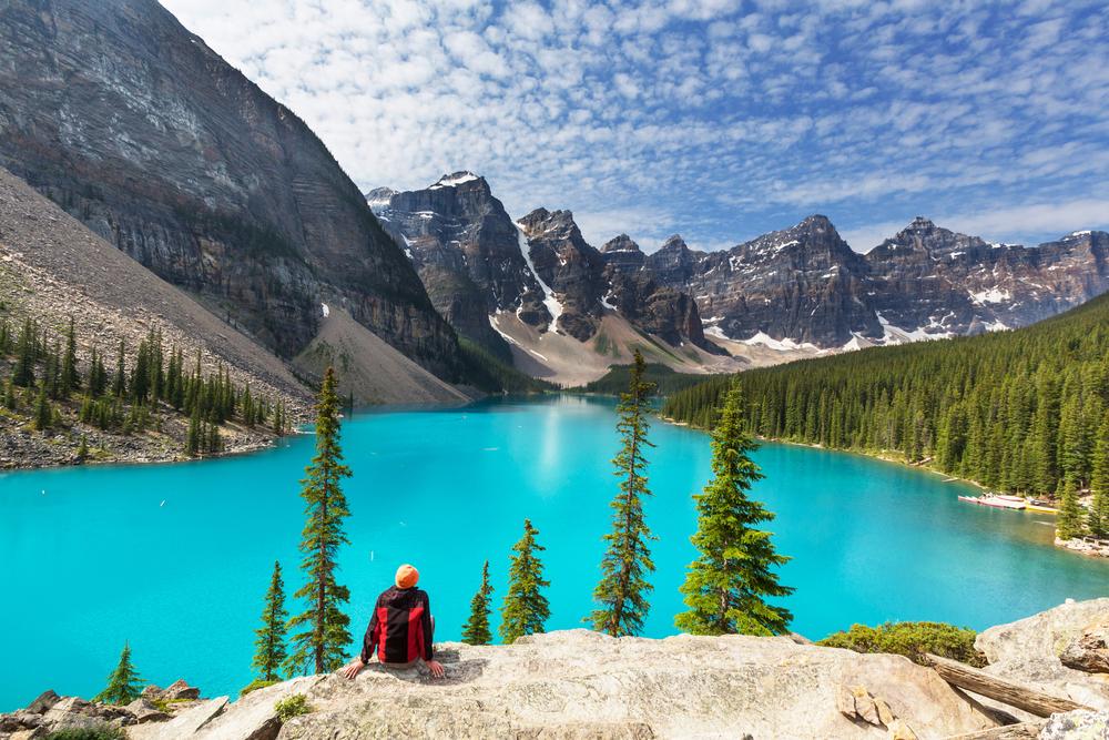 Lake and mountains banff