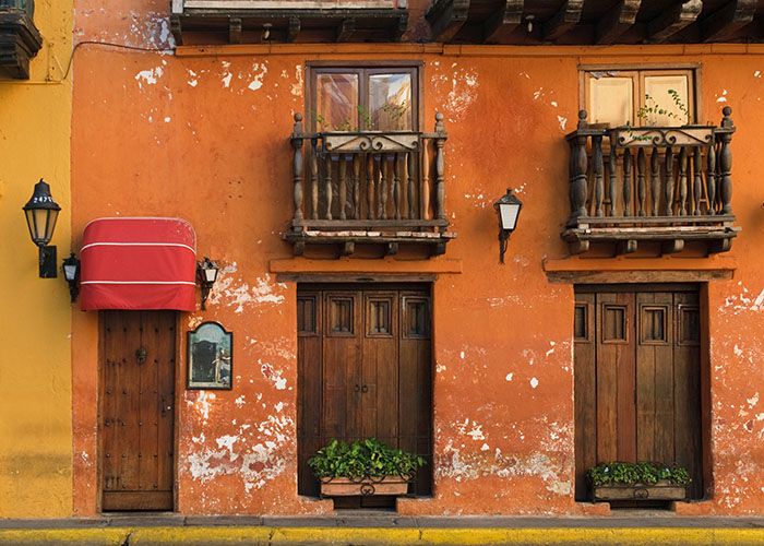 cartagena doors and balconies