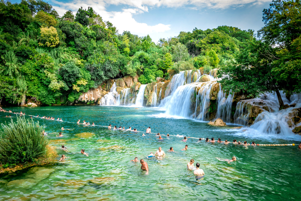 waterfall at krka national park