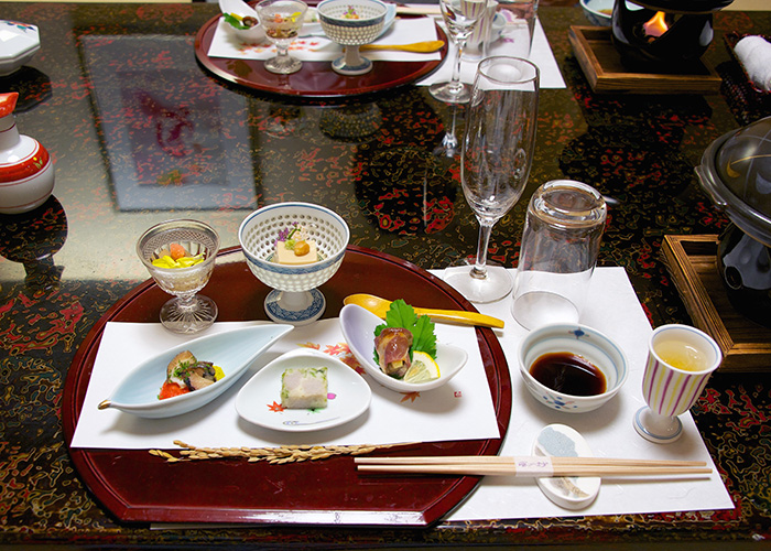 kaiseki meal in kyoto