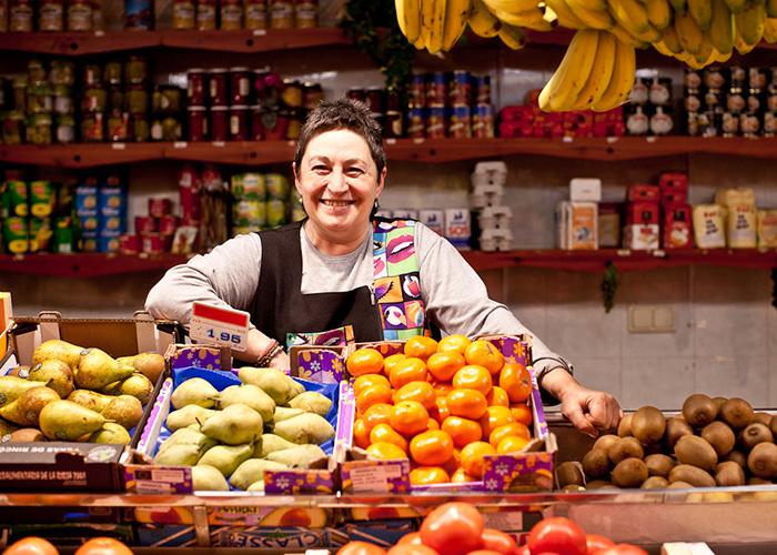 woman in market san sebastian
