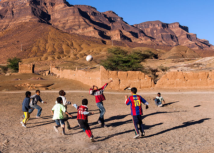soccer game in morocco