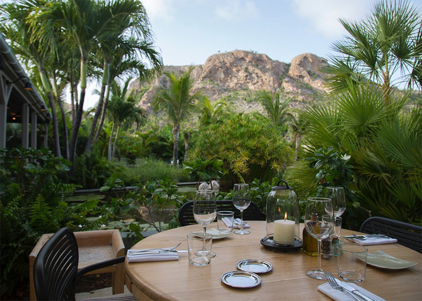 dining at le tamarin st barthelemy