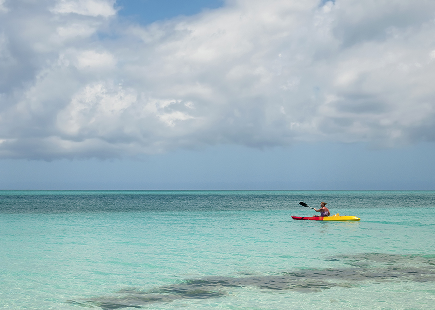 kayaker grace bay turks and caicos