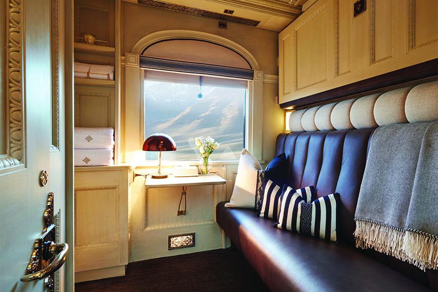 Belmond Andea Explorer luxury train interior.