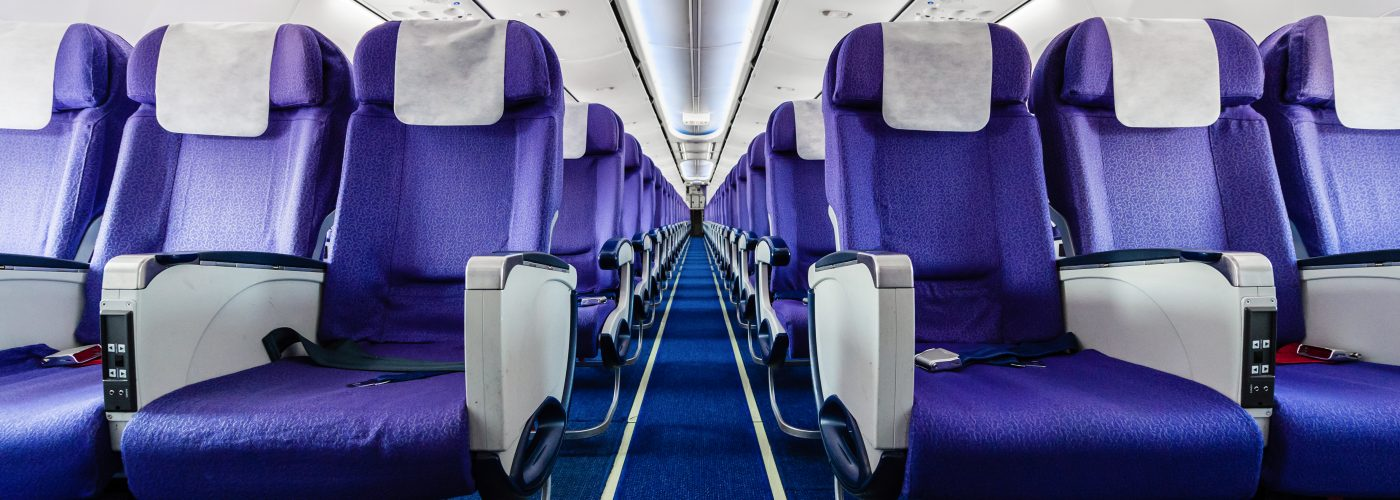 airline seat width