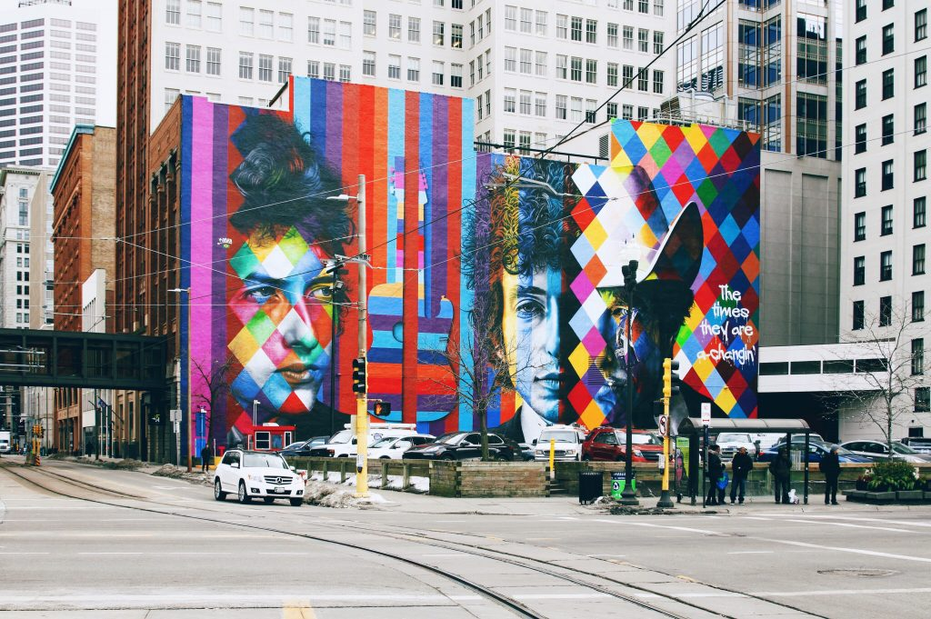 Minneapolis bob dylan mural