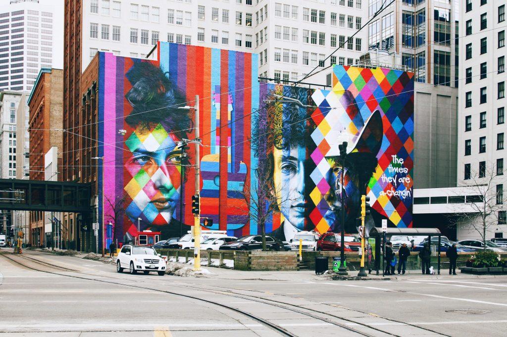 Minneapolis bob dylan mural