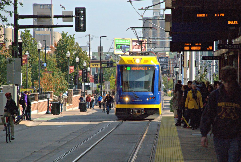 Minneapolis people tram