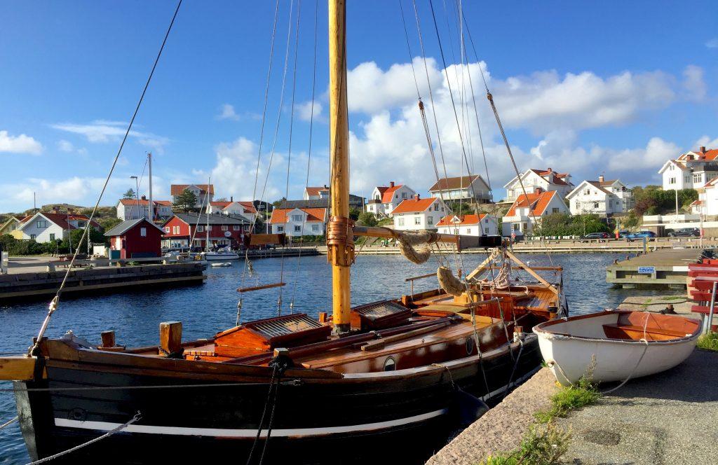Mollosund harbor, orust island, sweden