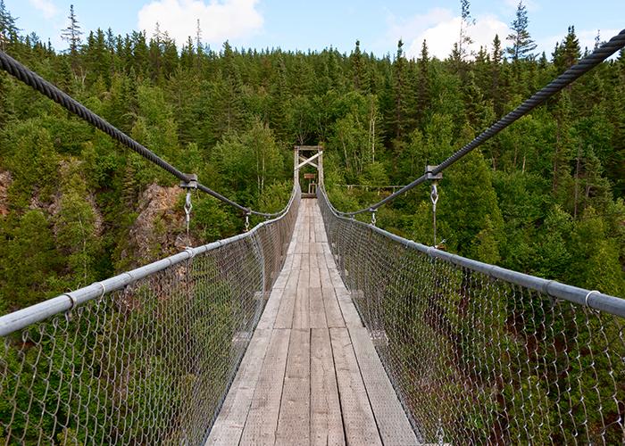 suspension bridge aiguebelle national park