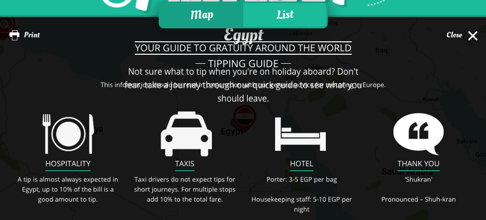 tipping guide go compare egypt