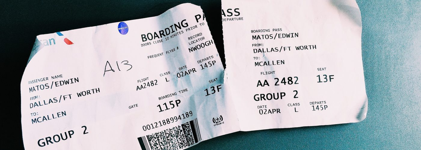 ripped boarding pass American