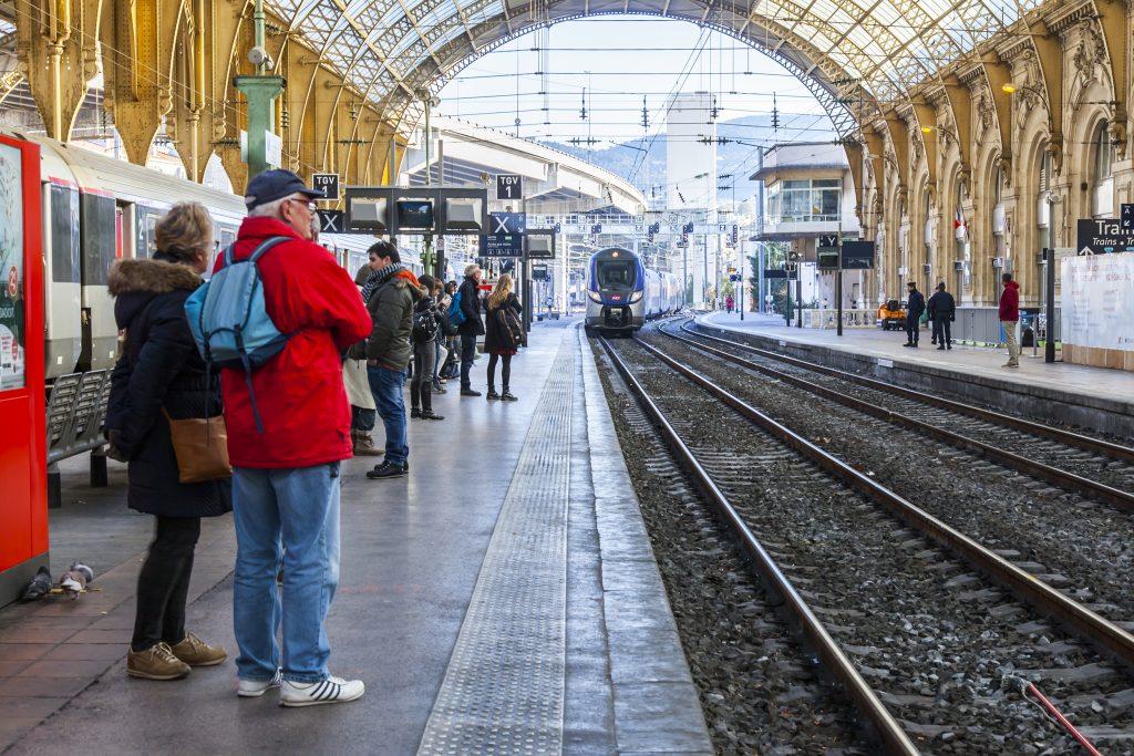 Nice france train journey