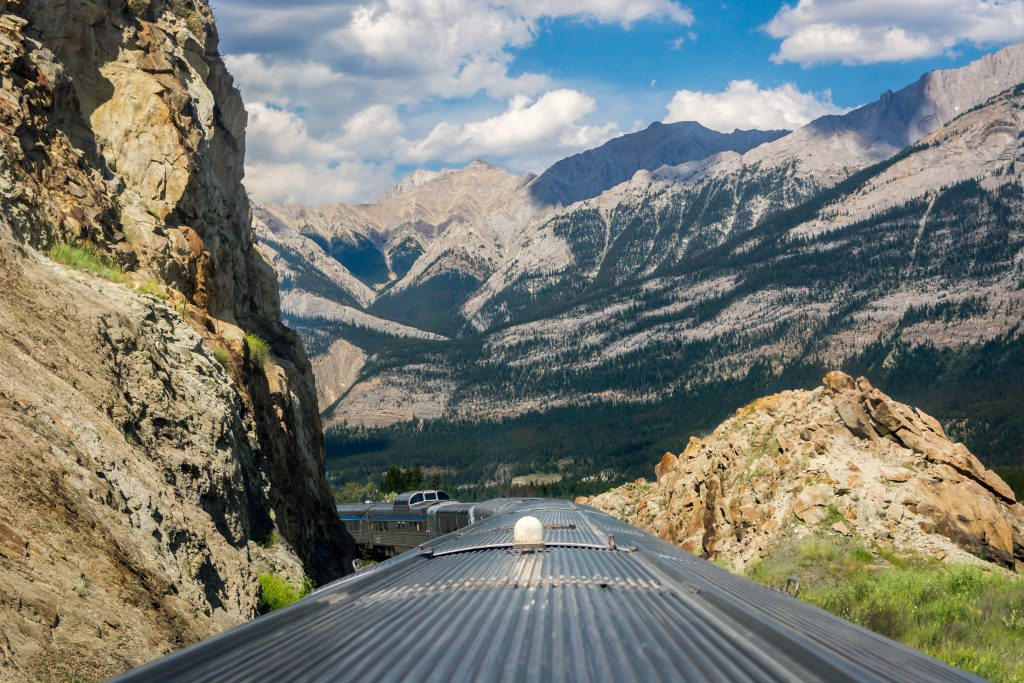 via rail train journey canadian rockies