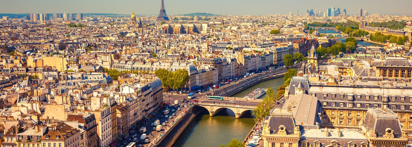 View of Paris and the Seine River