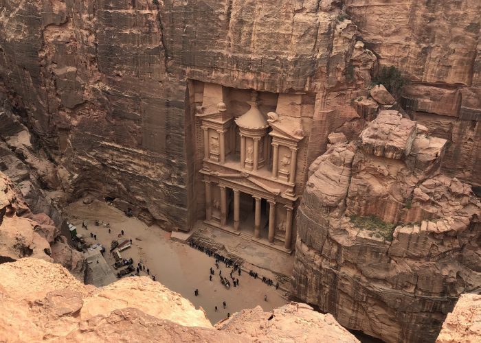 Petra above Jordan travel