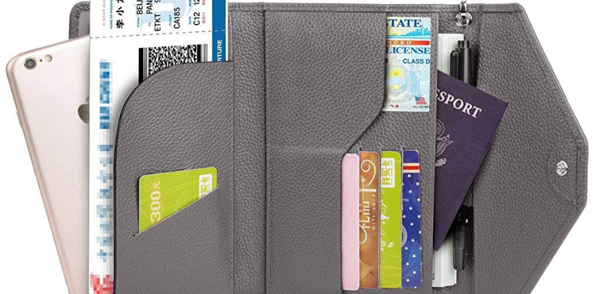 YALUXE rfid-blocking passport clutch.