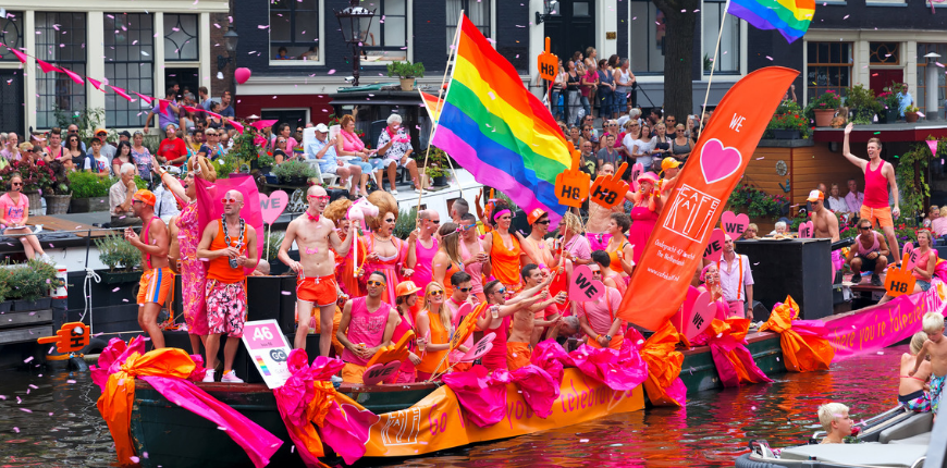 amsterdam netherlands canal parade gay pride