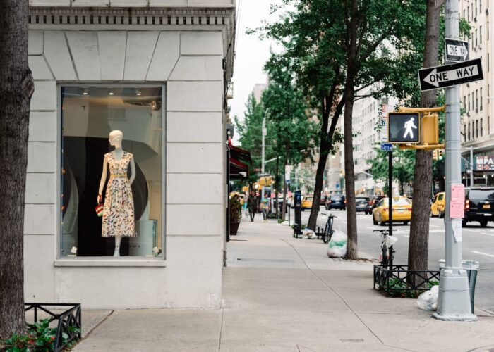 shopping corner in new york city.