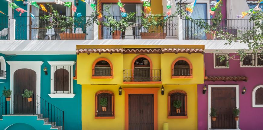 puerto vallarta colorful houses