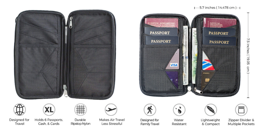 Zero grid family passport holder.