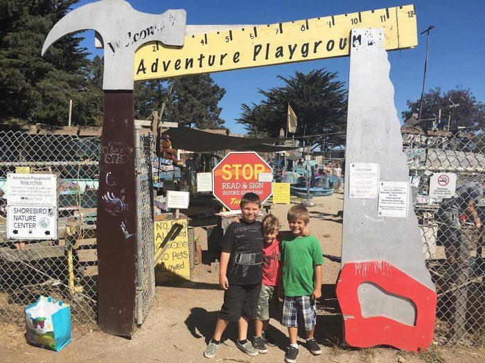Entrance to adventure playground