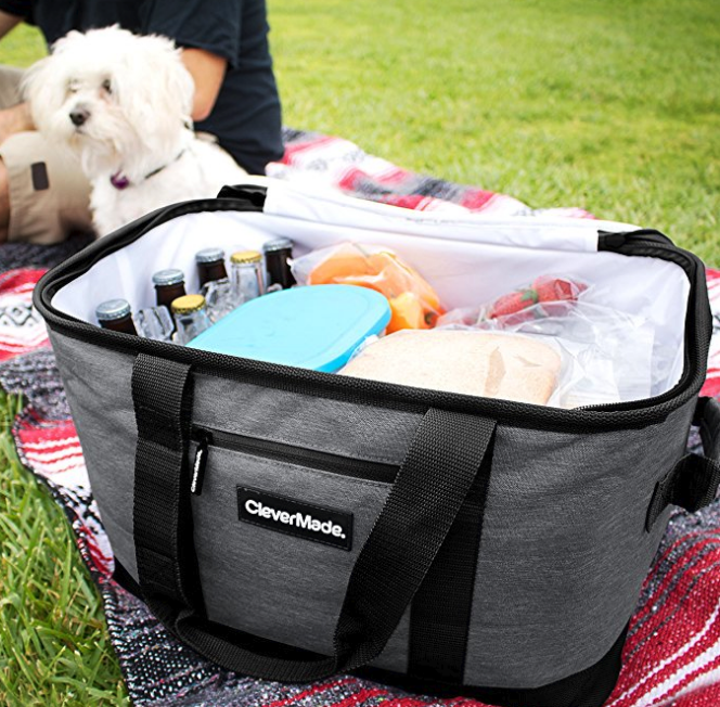 CleverMade-SnapBasket-Collapsible-Beach-Cooler