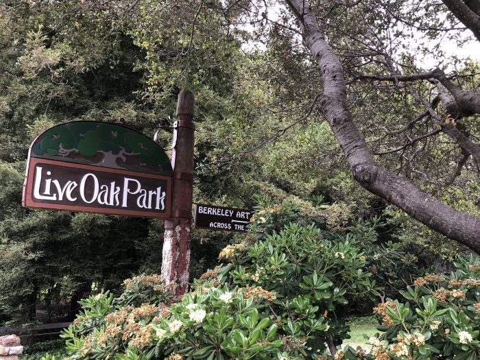 Sign at live oak park in berkeley