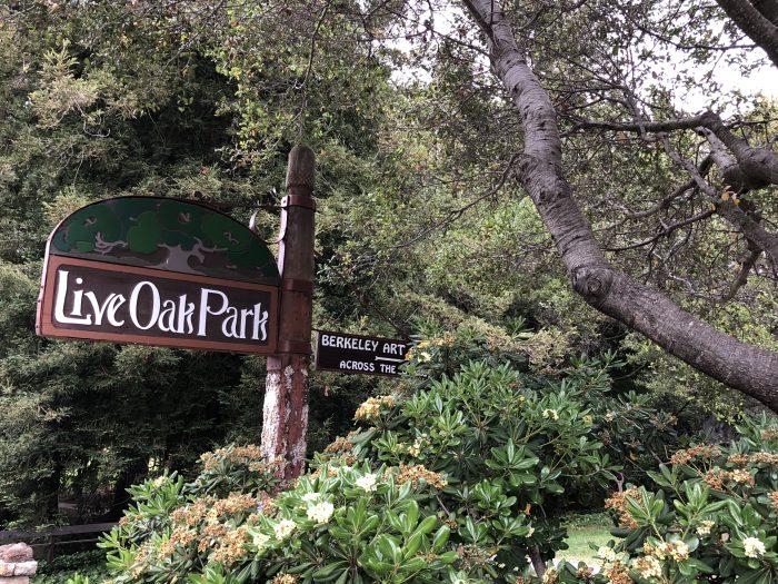 Sign at live oak park in berkeley