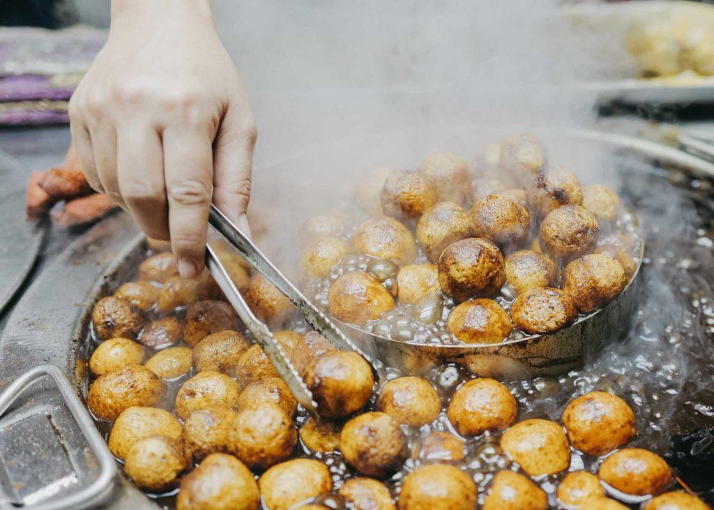 grilling street food