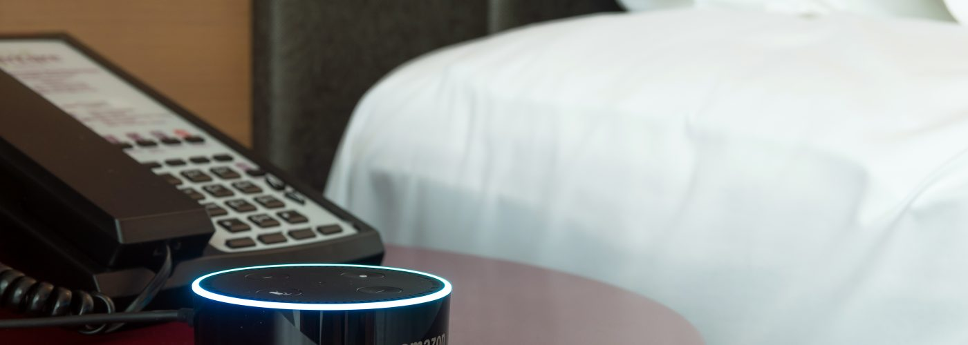 Amazon echo dot in hotel room