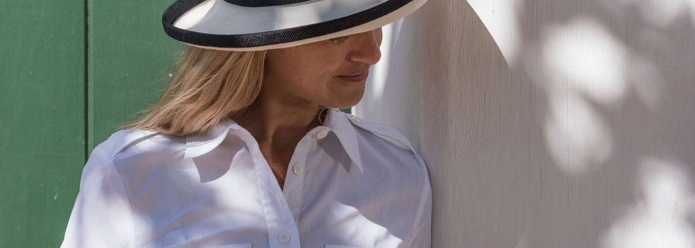 Side view of Tilley TH8 Charlotte Hemp Sun Hat