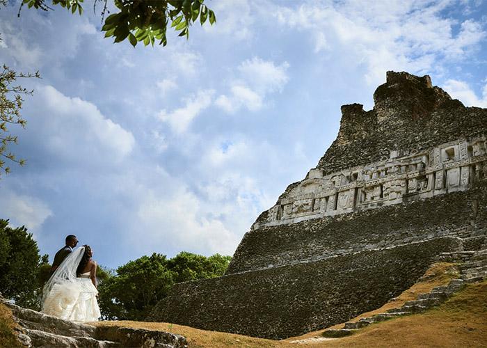 Mayan ruin destination wedding in belize