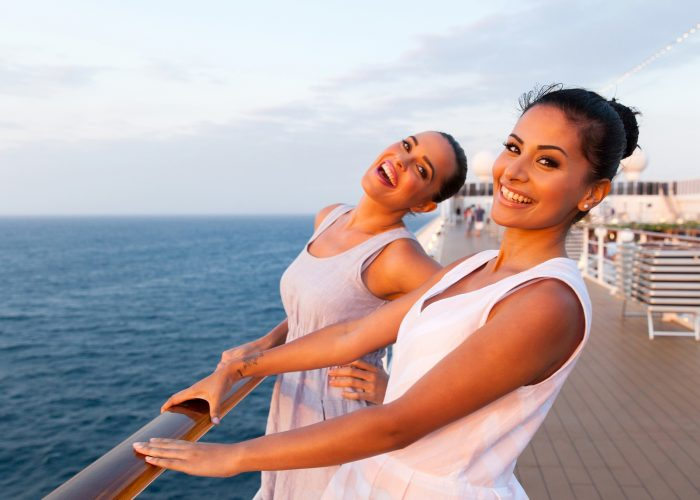 Cruise Two Women on Deck