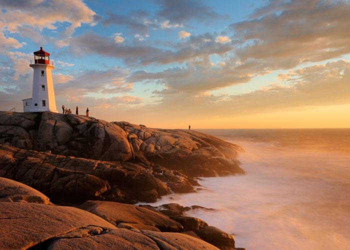 Light House Peggy Cove Sunset Nova Scotia Canada