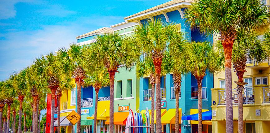 Santa rosa colorful houses