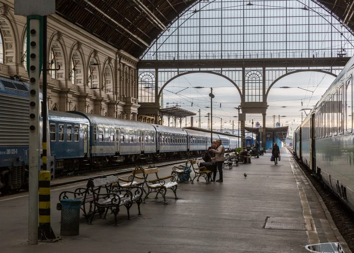 Europe train station Budapest Keleti