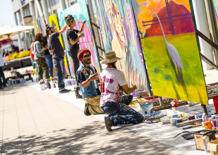 Art in Oakland: artists at work during the Oakland Mural Festival
