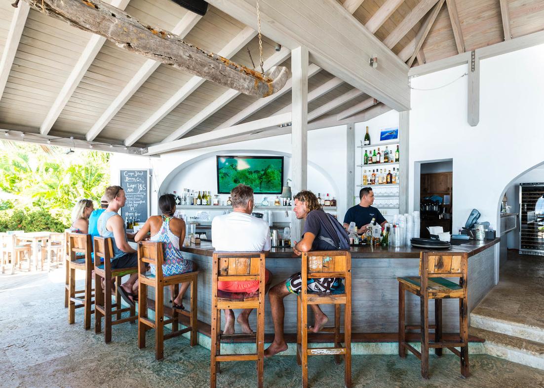 Cooper island bar at bvi